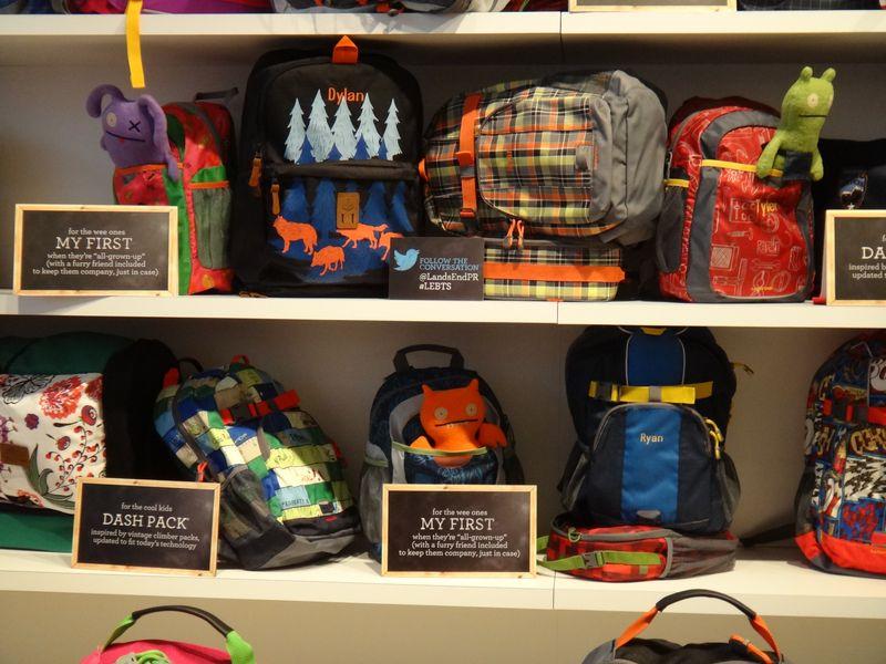 Lands End Backpacks UpClose