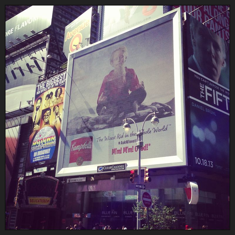 Campbells - Times Square board