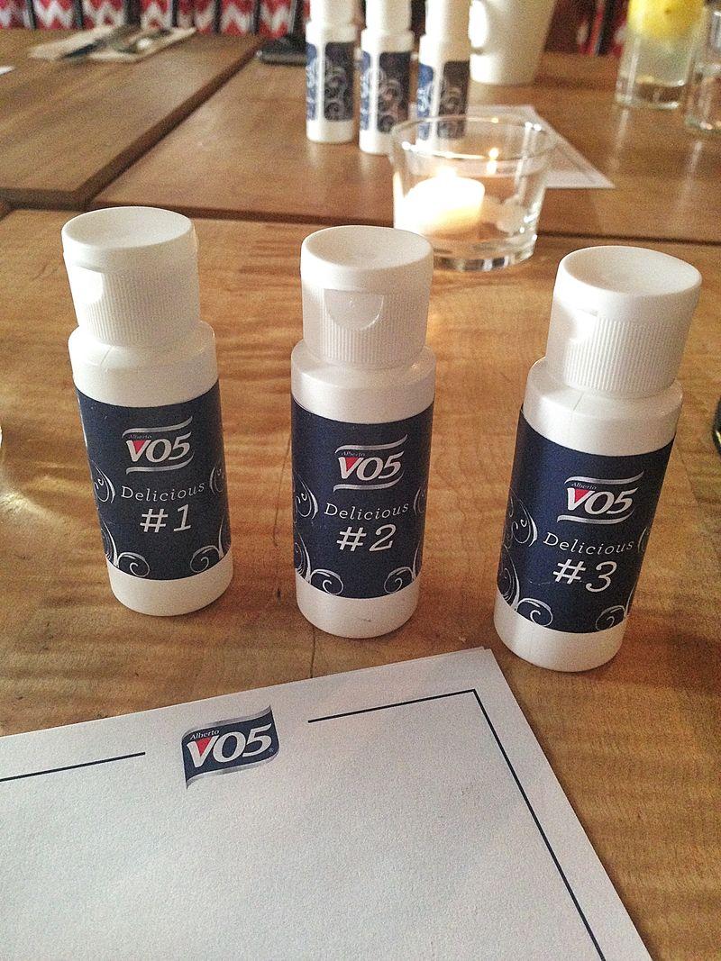 VO5 3 scent test
