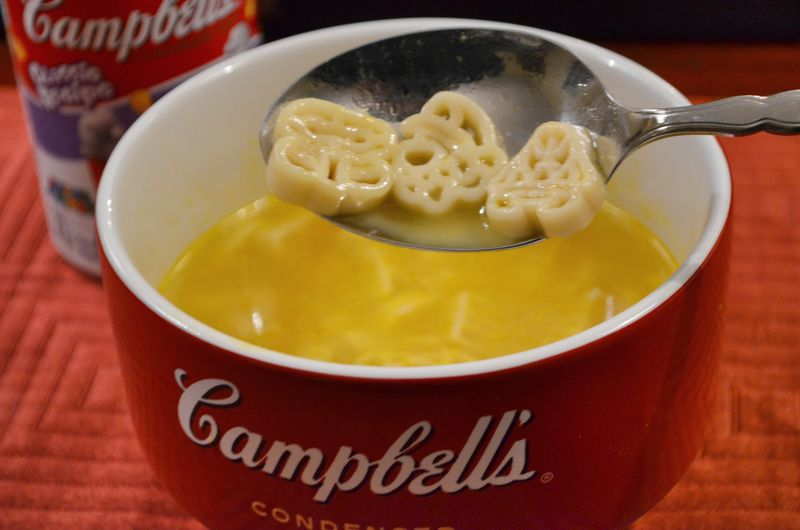 Super Mario Brothers chicken noodle soup